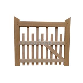 PALED HARDWOOD GATE