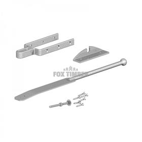 GALV SPRING FASTENER SET WITH 2 WAY PLATE