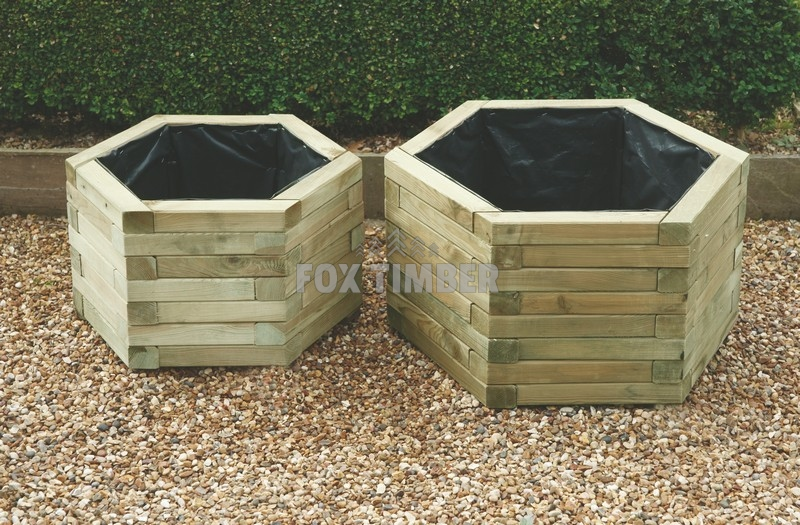 HEXAGONAL PLANTER (SET OF 2) MED & LARGE