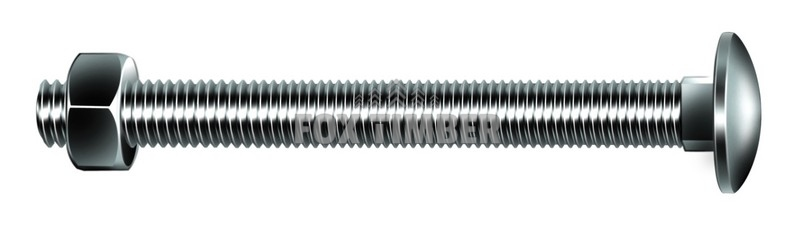 150 X M10 CUP SQUARE BOLTS