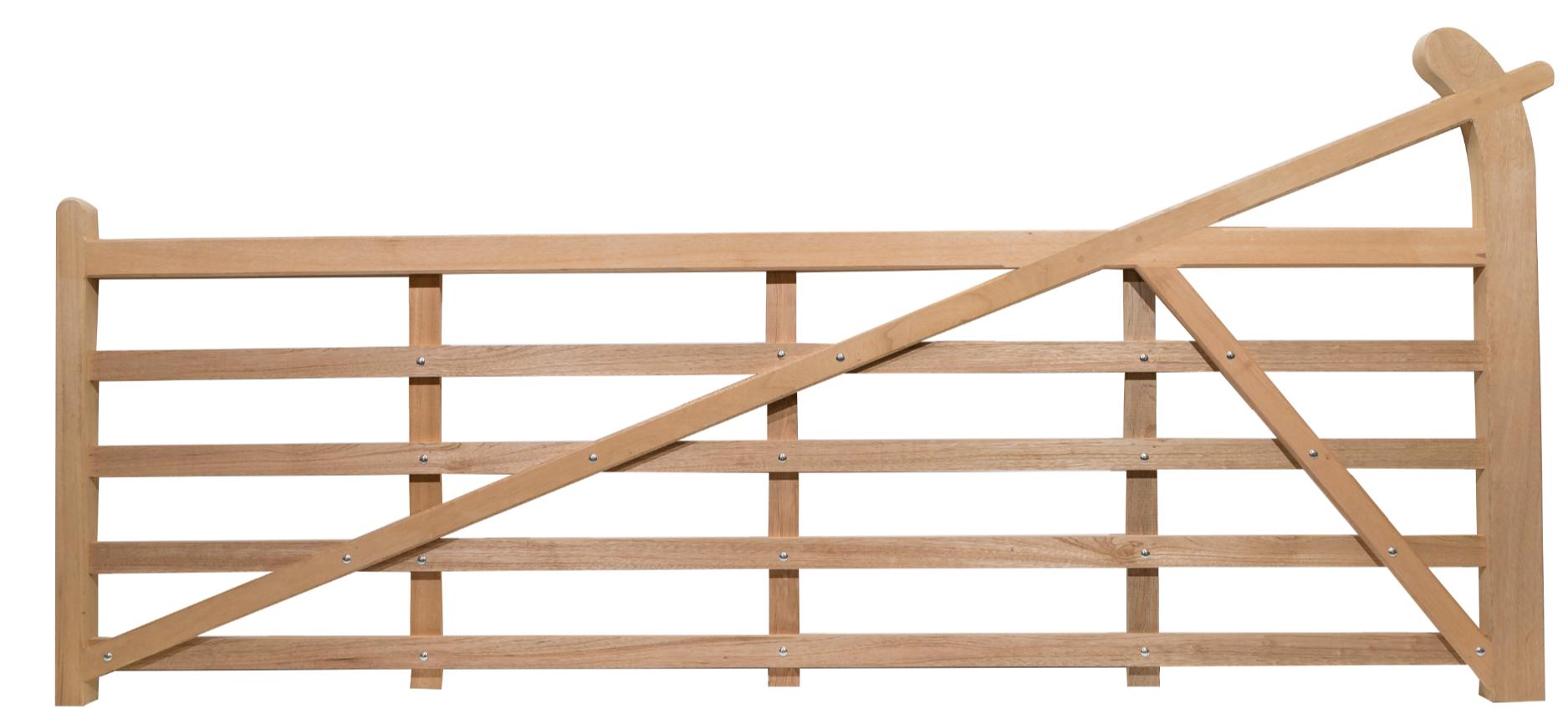 Hardwood Bent Artree 5 Bar Entrance Gate Buy Online