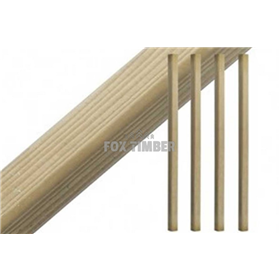 SQUARE SPINDLES REDWOOD 41 MM X 41 MM X 900 MM
