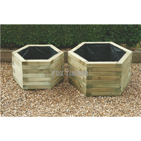 HEXAGONAL PLANTER 39CM X 65CM X 65CM LARGE