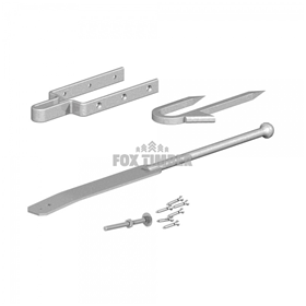 GALV SPRING FASTENER SET STAPLE CATCH
