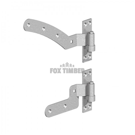 GALV CURVED RAIL HINGE SETS L/R HANDED (PAIR) 12