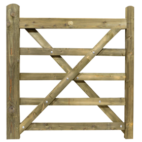 4FT 5 BAR TREATED FIELD GATE