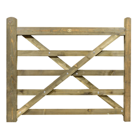 5FT 5 BAR TREATED FIELD GATE