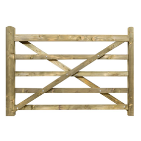 6FT 5 BAR TREATED FIELD GATE