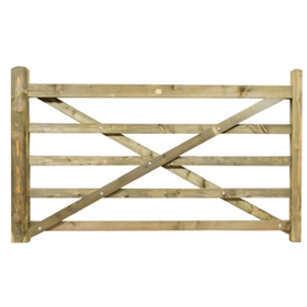 7FT 5 BAR TREATED FIELD GATE