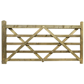 8FT 5 BAR TREATED FIELD GATE
