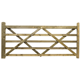 9FT 5 BAR TREATED FIELD GATE