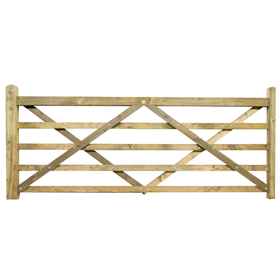 10FT 5 BAR TREATED FIELD GATE