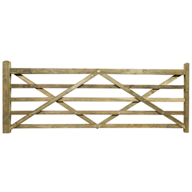 11FT 5 BAR TREATED FIELD GATE