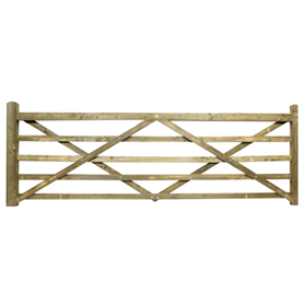 12FT 5 BAR TREATED FIELD GATE