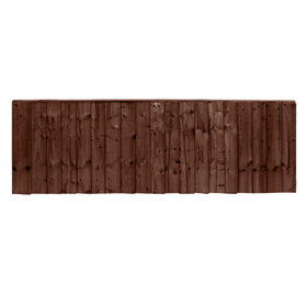 CLOSE BOARD PANEL 6 X 2 BROWN